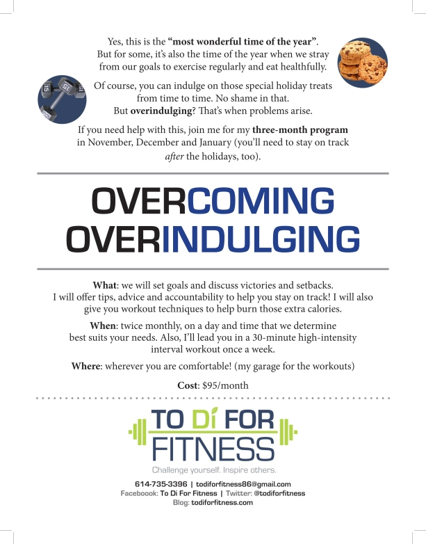 overcoming overindulging program
